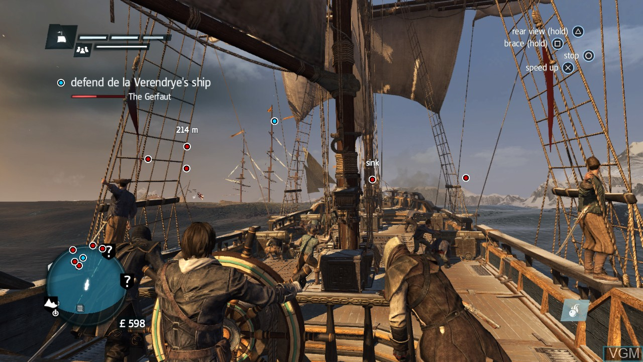 Image in-game du jeu Assassin's Creed Rogue sur Sony Playstation 3