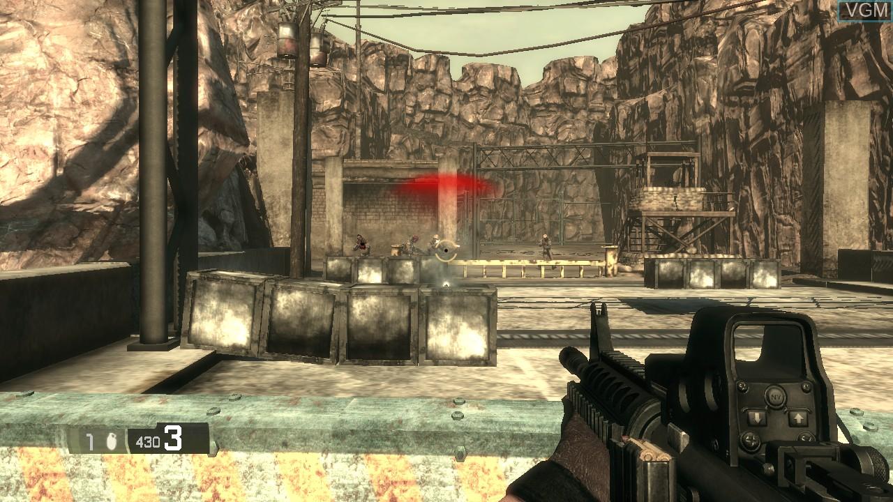 Image in-game du jeu BlackSite - Area 51 sur Sony Playstation 3