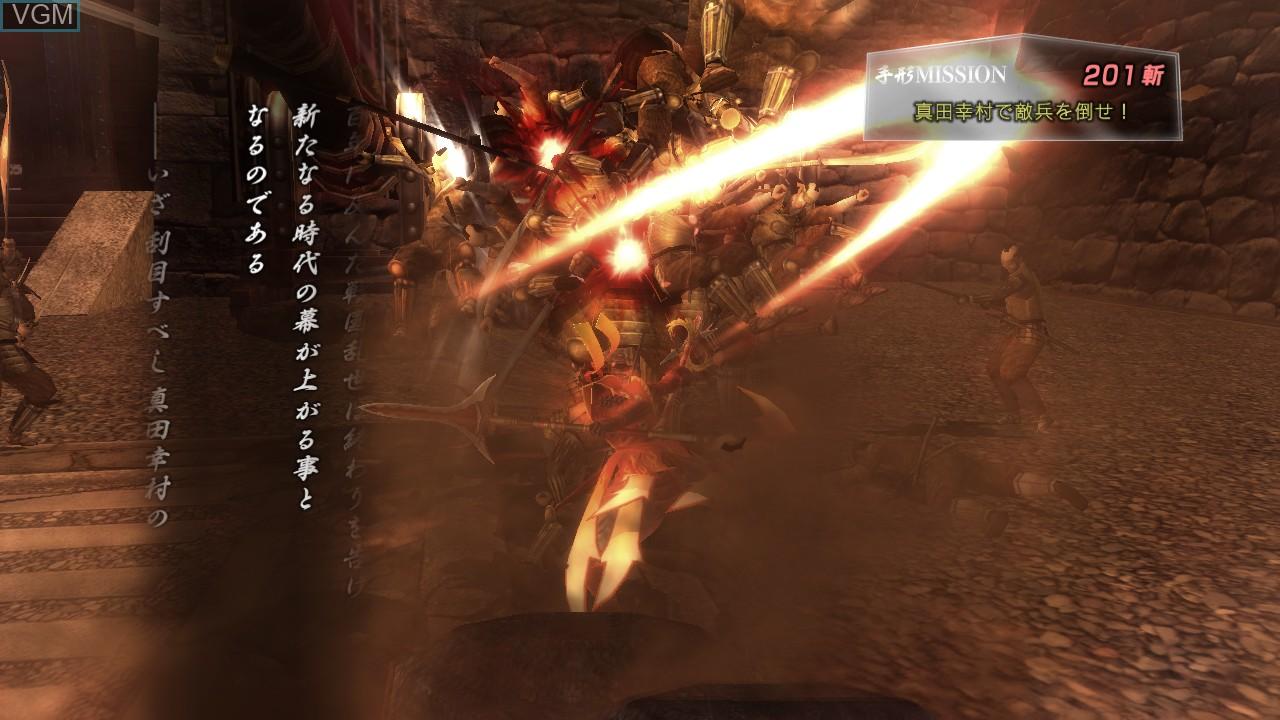Image in-game du jeu Sengoku Basara - Sanada Yukimura-Den sur Sony Playstation 3
