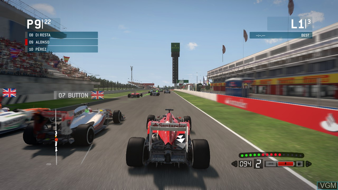 Image in-game du jeu F1 2013 sur Sony Playstation 3