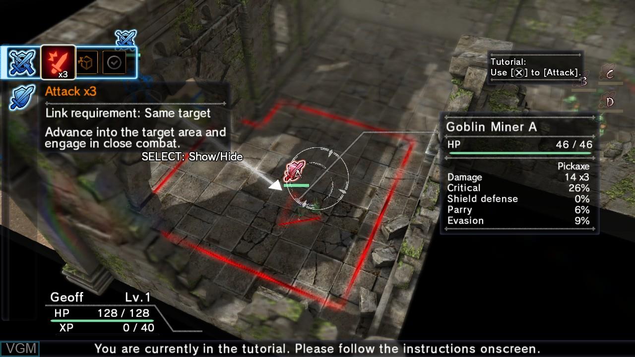 Image in-game du jeu Natural Doctrine sur Sony Playstation 3