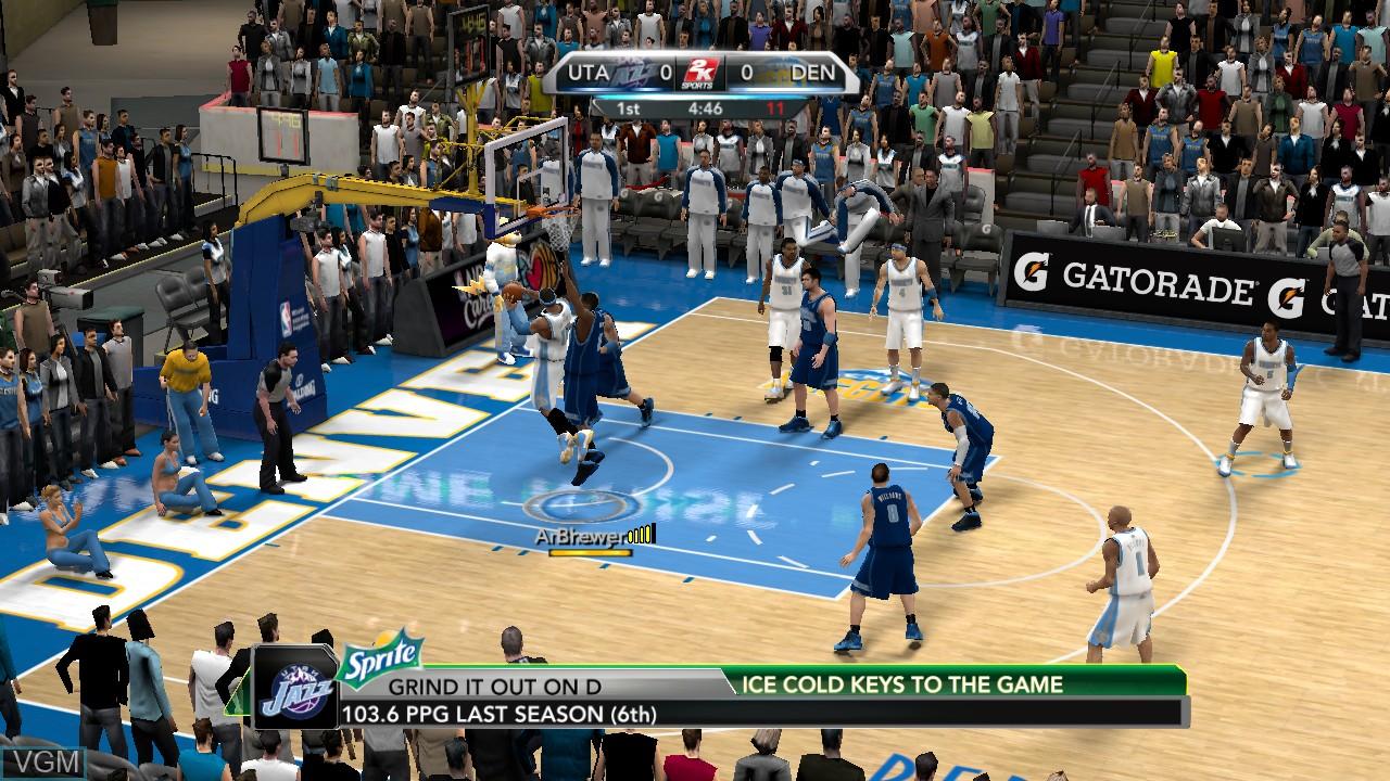 Image in-game du jeu NBA 2K10 sur Sony Playstation 3