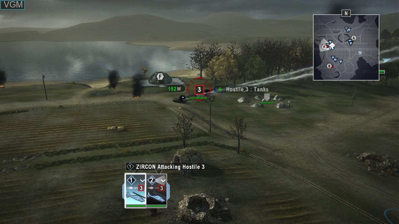 Image in-game du jeu Tom Clancy's EndWar sur Sony Playstation 3