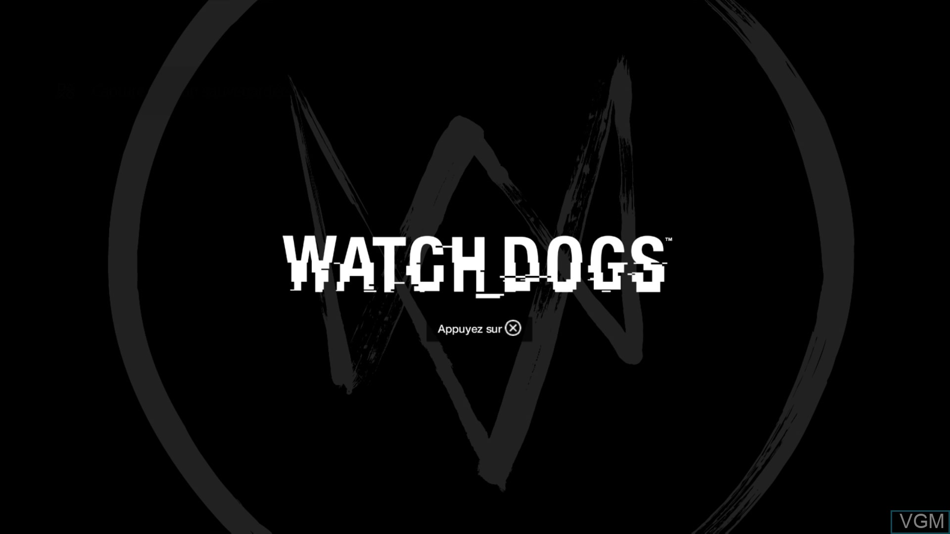 Image de l'ecran titre du jeu Watch Dogs sur Sony Playstation 4