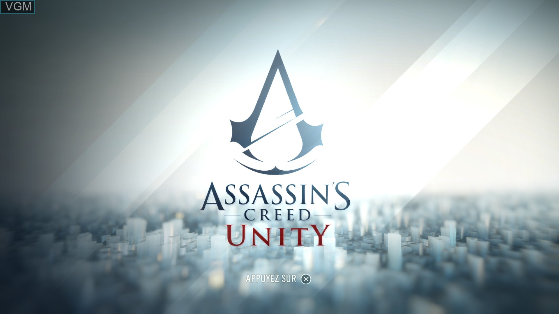 Image de l'ecran titre du jeu Assassin's Creed Unity sur Sony Playstation 4
