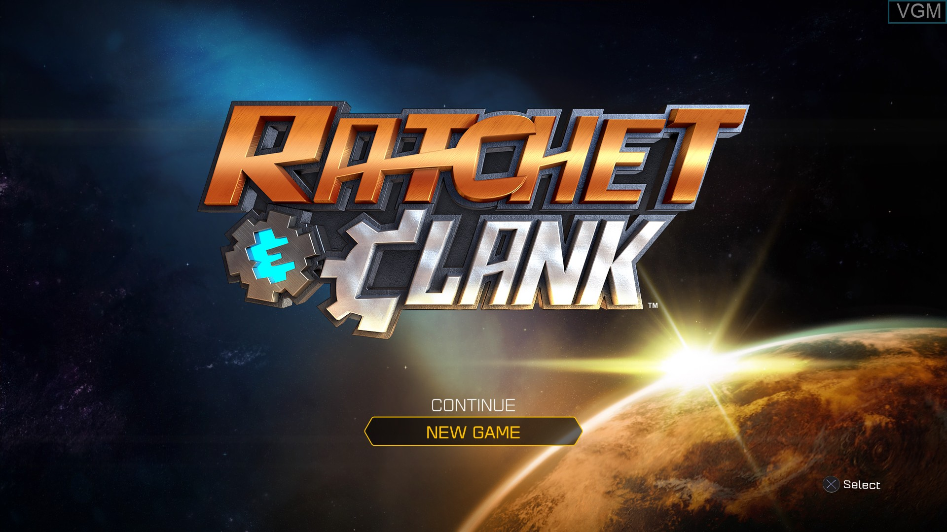 Image du menu du jeu Ratchet & Clank sur Sony Playstation 4