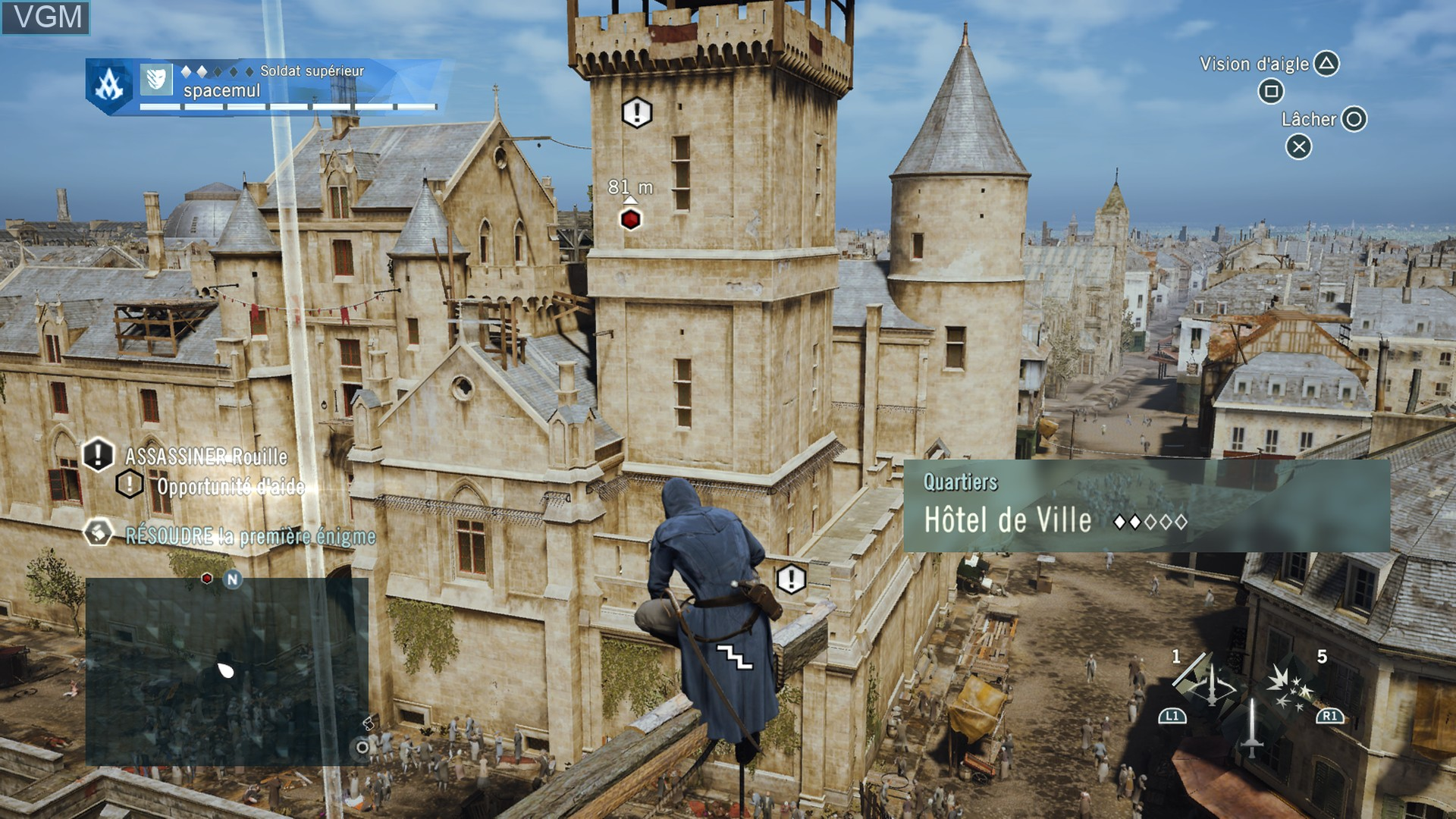 Image in-game du jeu Assassin's Creed Unity sur Sony Playstation 4