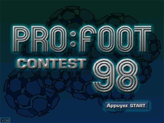 Image de l'ecran titre du jeu Pro:Foot Contest:98 sur Sony Playstation