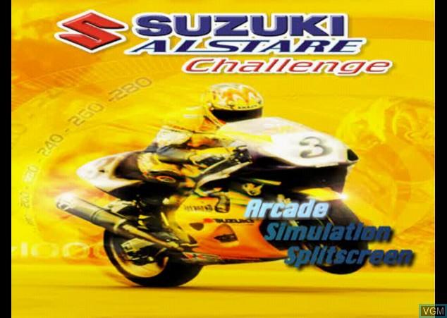 Image de l'ecran titre du jeu Suzuki Alstare Challenge sur Sony Playstation