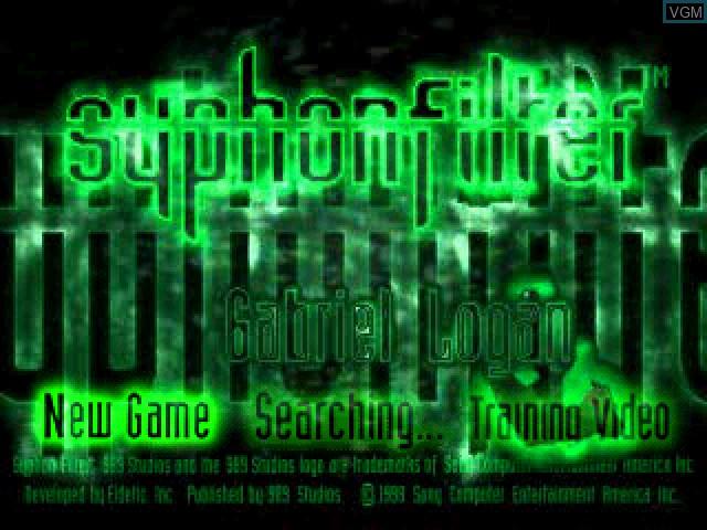 Image de l'ecran titre du jeu Syphon Filter sur Sony Playstation