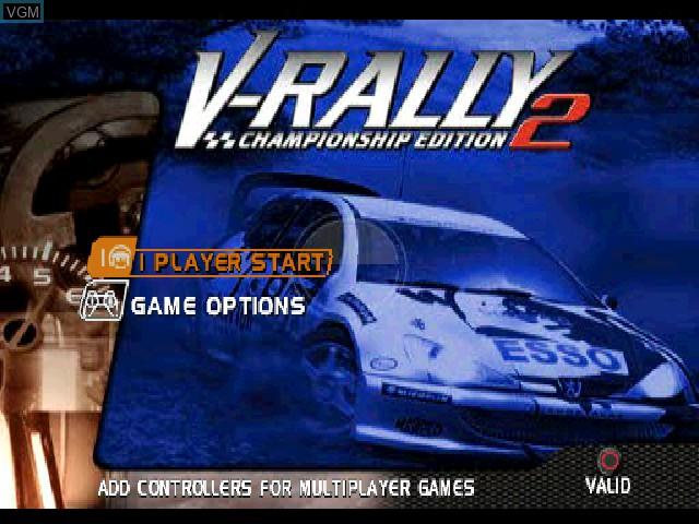 Image de l'ecran titre du jeu V-Rally - Championship Edition 2 sur Sony Playstation