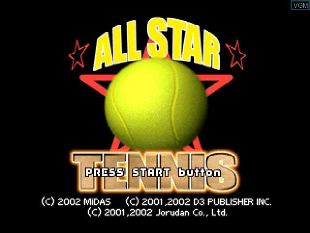 Image de l'ecran titre du jeu All Star Tennis 2000 sur Sony Playstation