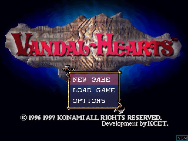 Image de l'ecran titre du jeu Vandal Hearts sur Sony Playstation