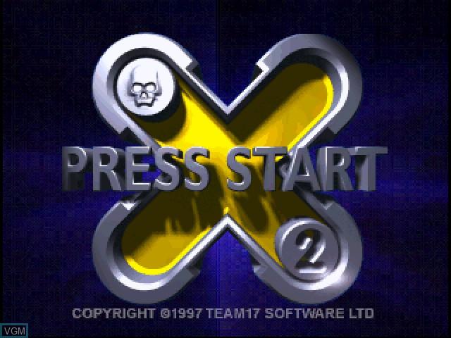 Image de l'ecran titre du jeu X2 - No Relief sur Sony Playstation