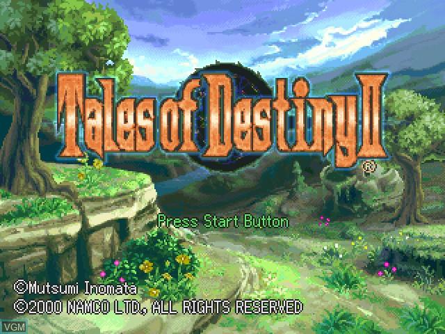 Image de l'ecran titre du jeu Tales of Destiny II sur Sony Playstation