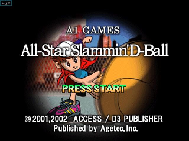 Image de l'ecran titre du jeu All-Star Slammin' D-Ball sur Sony Playstation