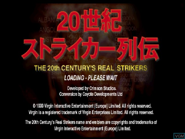 Image de l'ecran titre du jeu 20 Seiki Striker Retsuden sur Sony Playstation
