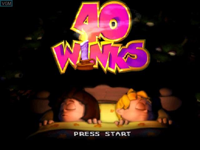 Image de l'ecran titre du jeu 40 Winks sur Sony Playstation