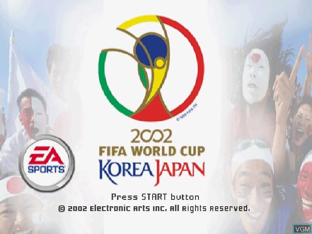 Image de l'ecran titre du jeu 2002 FIFA World Cup Korea Japan sur Sony Playstation