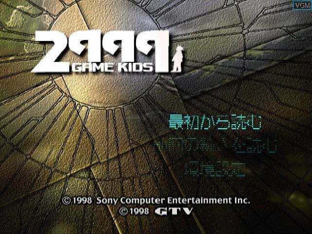 Image de l'ecran titre du jeu 2999 Nen no Game Kids sur Sony Playstation