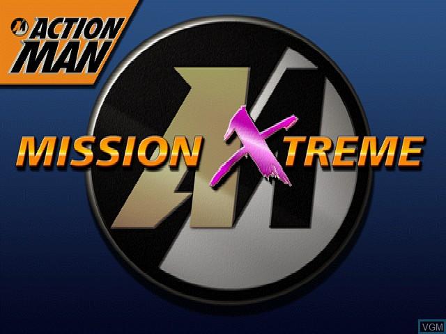 Image de l'ecran titre du jeu Action Man - Mission Xtreme sur Sony Playstation
