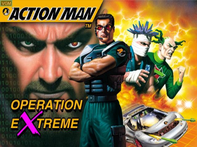 Image de l'ecran titre du jeu Action Man - Operation Extreme sur Sony Playstation