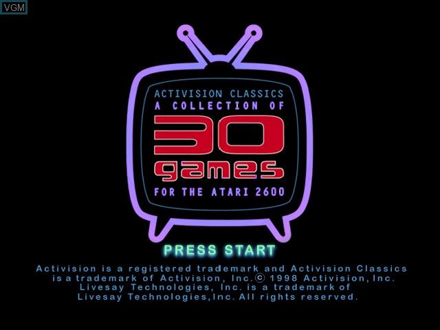 Image de l'ecran titre du jeu Activision Classics sur Sony Playstation