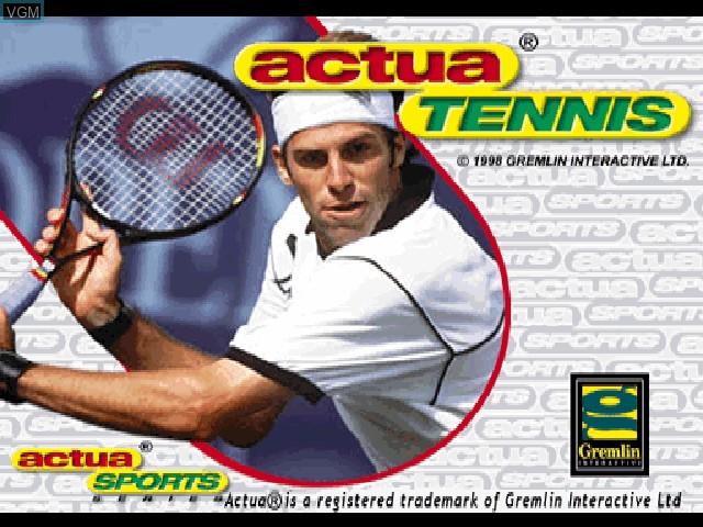 Image de l'ecran titre du jeu Actua Tennis sur Sony Playstation
