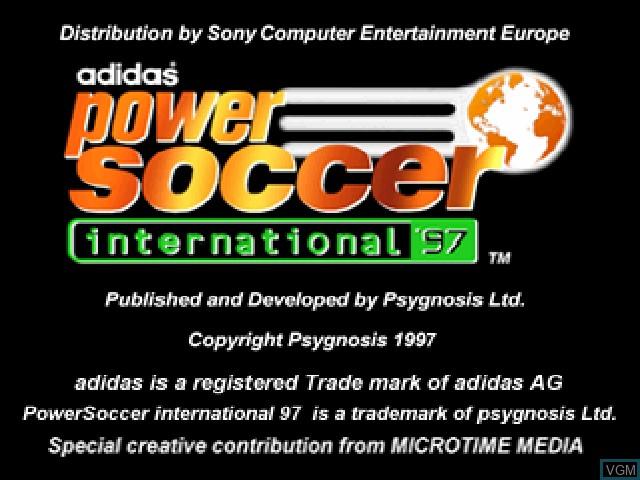 Image de l'ecran titre du jeu Adidas Power Soccer International '97 sur Sony Playstation
