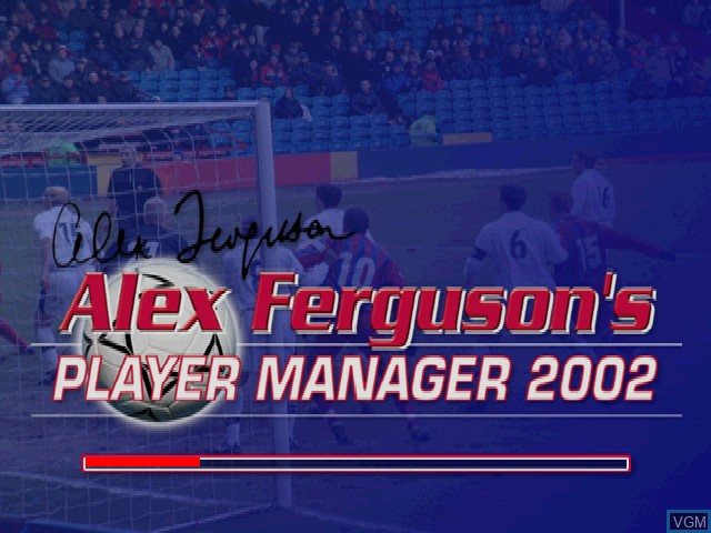 Image de l'ecran titre du jeu Alex Ferguson's Player Manager 2002 sur Sony Playstation