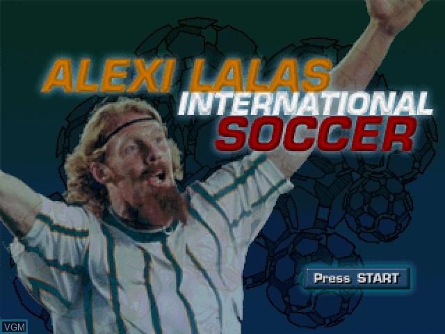 Image de l'ecran titre du jeu Alexi Lalas International Soccer sur Sony Playstation