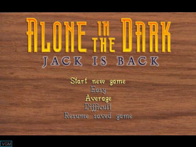 Image de l'ecran titre du jeu Alone in the Dark - Jack Is Back sur Sony Playstation