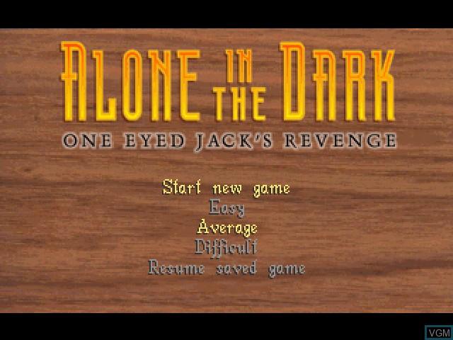 Image de l'ecran titre du jeu Alone in the Dark - One-Eyed Jack's Revenge sur Sony Playstation