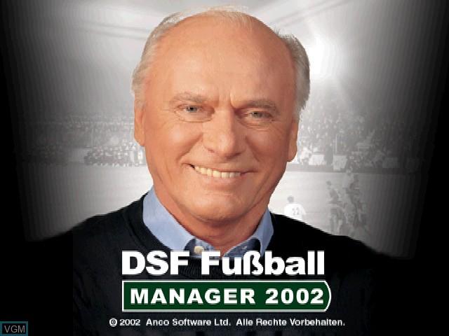 Image de l'ecran titre du jeu DSF Fussball Manager 2002 sur Sony Playstation