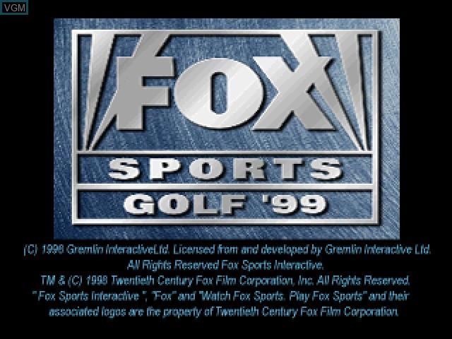 Image de l'ecran titre du jeu FOX Sports Golf '99 sur Sony Playstation