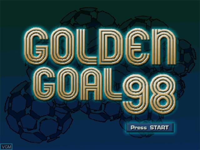 Image de l'ecran titre du jeu Golden Goal 98 sur Sony Playstation