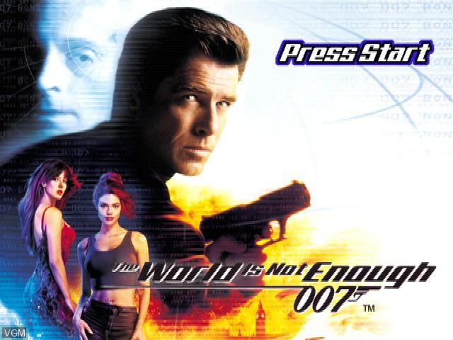 Image de l'ecran titre du jeu 007 - The World Is Not Enough sur Sony Playstation