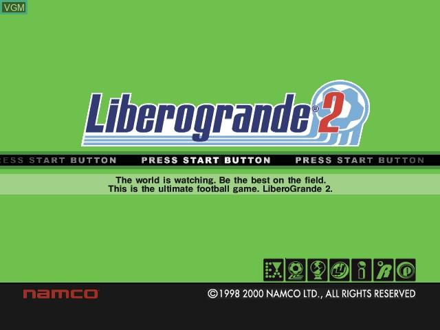 Image de l'ecran titre du jeu Libero Grande 2 sur Sony Playstation