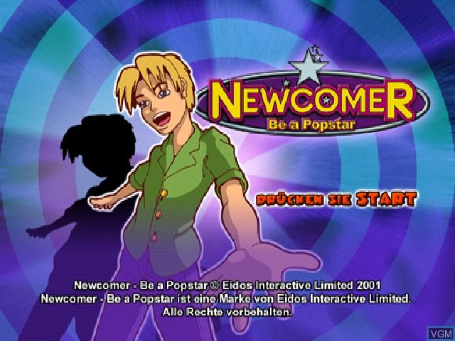 Image de l'ecran titre du jeu Newcomer - Be a Popstar sur Sony Playstation