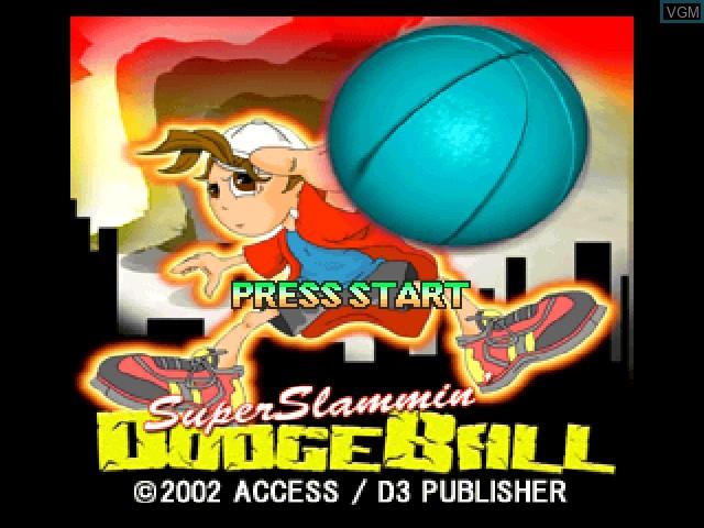 Image de l'ecran titre du jeu Super Slammin' Dodgeball sur Sony Playstation