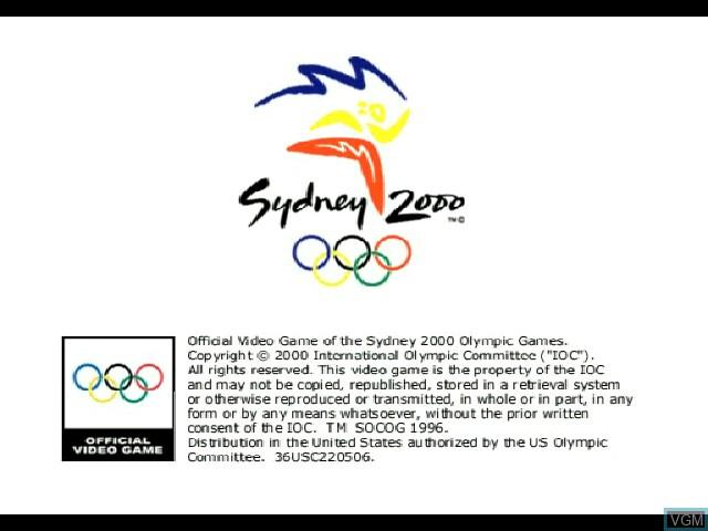 Image de l'ecran titre du jeu Sydney 2000 sur Sony Playstation
