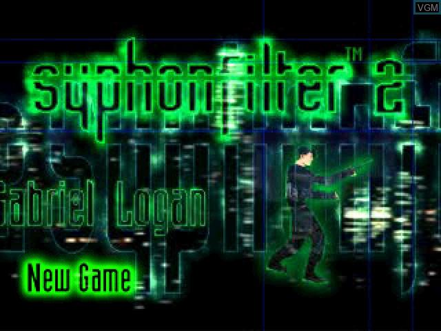 Image de l'ecran titre du jeu Syphon Filter 2 sur Sony Playstation