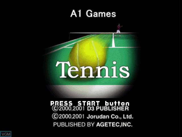Image de l'ecran titre du jeu Tennis sur Sony Playstation