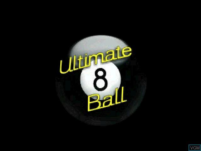 Image de l'ecran titre du jeu Ultimate 8 Ball sur Sony Playstation