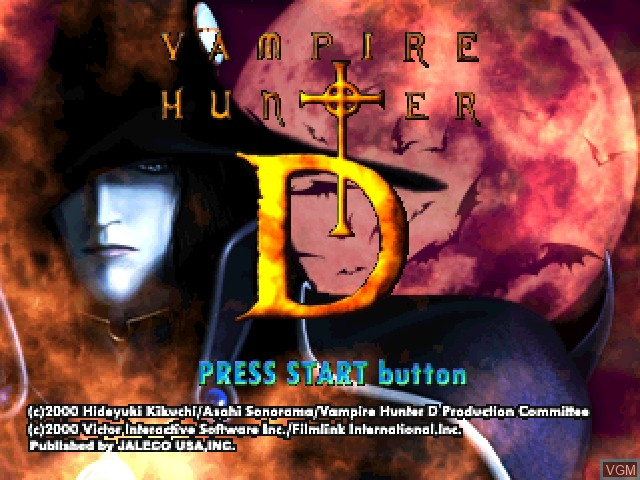 Image de l'ecran titre du jeu Vampire Hunter D sur Sony Playstation