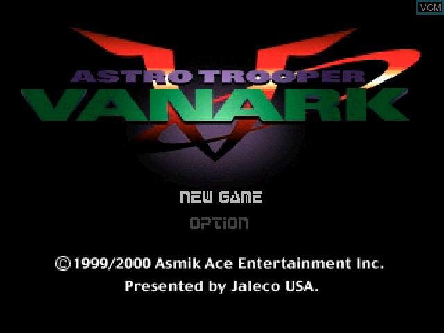 Image de l'ecran titre du jeu Vanark sur Sony Playstation