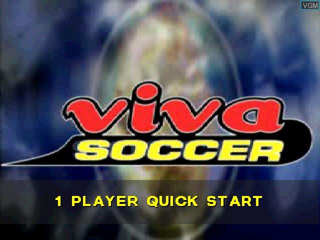 Image de l'ecran titre du jeu Viva Soccer sur Sony Playstation