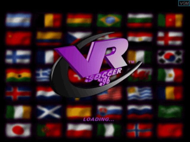 Image de l'ecran titre du jeu VR Soccer '96 sur Sony Playstation