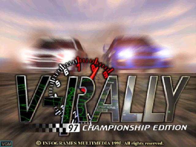 Image de l'ecran titre du jeu V-Rally - 97 Championship Edition sur Sony Playstation