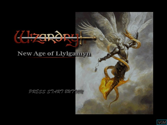 Image de l'ecran titre du jeu Wizardry - New Age of Llylgamyn sur Sony Playstation